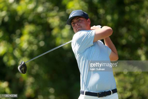 Keith Mitchell plays his shot from the third tee during the third round of the Honda Classic at PGA National Resort and Spa on March 02 2019 in Palm...