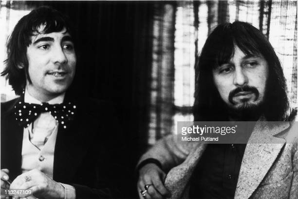 Keith Moon and John Entwistle of The Who portrait 25th April 1973