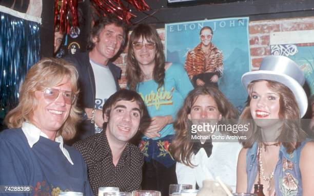 Keith Moon hangs out with some friends including KROQ radio DJ Rodney Bingenheimer and Annette WalterLax circa 1978