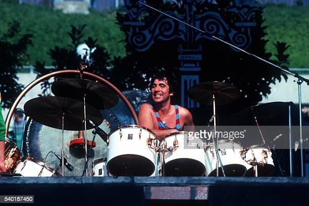 Keith Moon is performing with 'The Who' at the Oakland Coliseum at a Day on the Green in Oakland CA on October 9 1976
