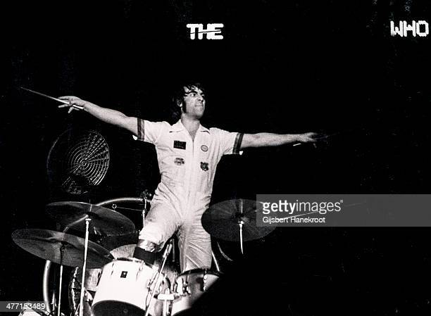 Keith Moon of The Who on stage at a concert at Ahoy in Rotterdam Netherlands on October 27 1975