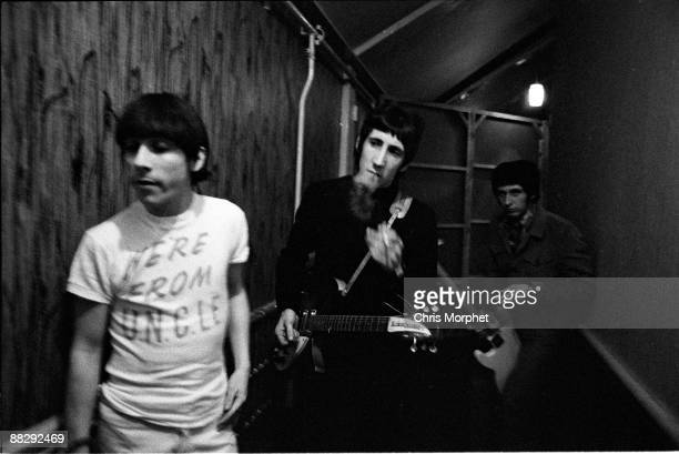 Keith Moon Pete Townshend and John Entwistle of The Who backstage at a concert played without Roger Daltrey at Wimbledon Palais on May 13th 1966 in...