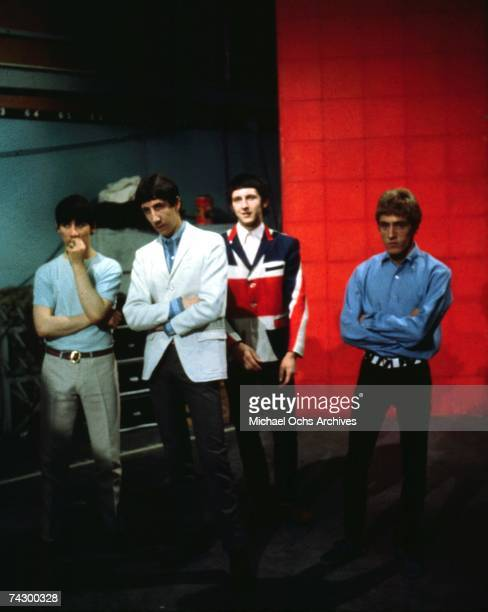 Keith Moon Pete Townshend John Entwhistle and Roger Daltrey of the rock and roll band The Who pose for a portrait in 1965 in London England