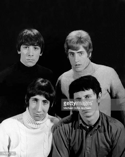 Keith Moon Pete Townshend Roger Daltrey and John Entwistle of the rock and roll band 'The Who' pose for a portrait in 1965