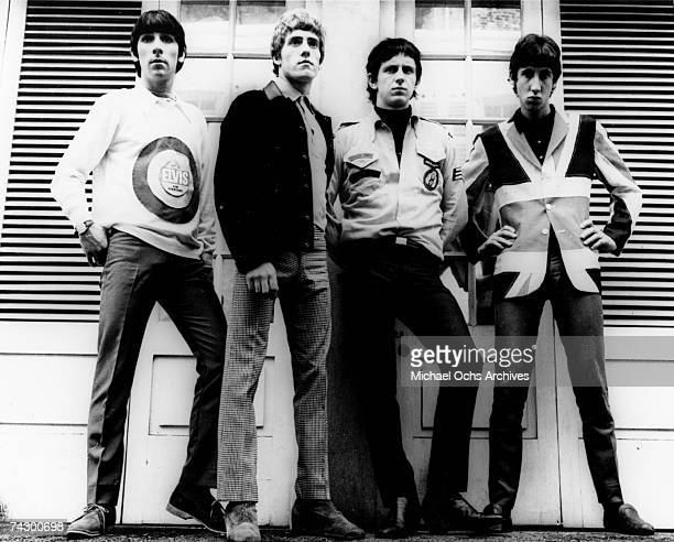 Keith Moon Roger Daltrey John Entwistle and Pete Townshend of the rock and roll band The Who pose for a portrait in 1965 in London England