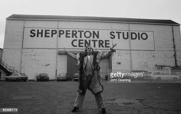 Keith Moon the drummer with British rock group The Who outside the Shepperton Studio Centre circa 1977