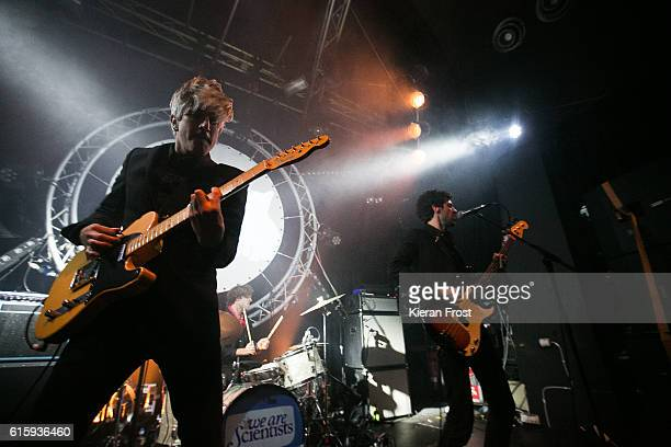 Keith Murray and Chris Cain of We Are Scientists performs at The Opium Rooms on October 20 2016 in Dublin