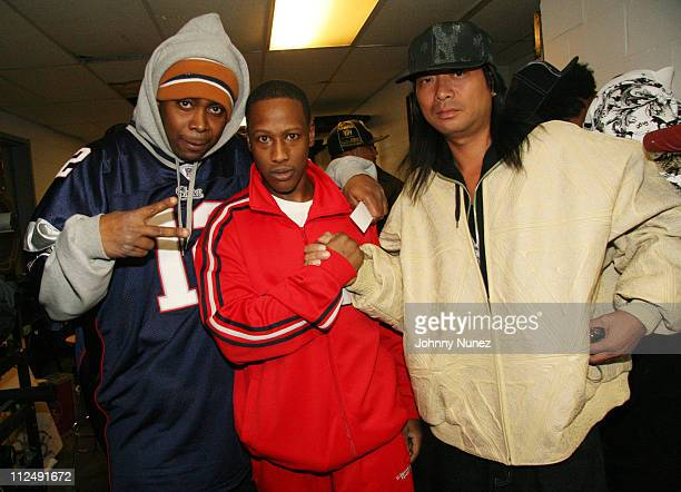 PMD Keith Murray and DJ Honda during Vh1 Hip Hop Honors Presents EPMD Reunion October 14 2006 at BB Kings in New York City New York United States