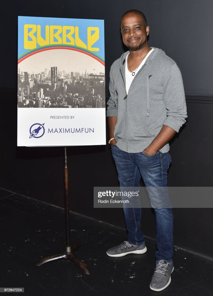 Keith Powell poses for portrait at the MaximumFun.org Comedy Podcast photo call at Dynasty Typewriter at the Hayworth on June 12, 2018 in Los Angeles, California.