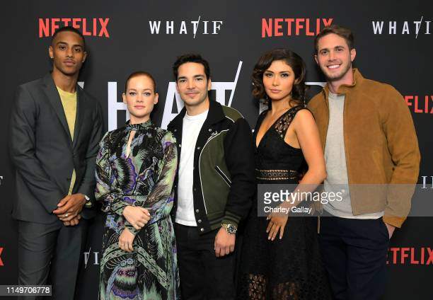 Keith Powers Jane Levy Juan Castano Daniella Pineda and Blake Jenner attend Netflix's 'WHAT / IF' Special Screening at The London West Hollywood on...