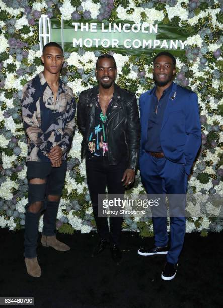 Keith Powers Luke James and Woody McClain attend 2017 Essence Black Women in Music at NeueHouse Hollywood on February 9 2017 in Los Angeles California