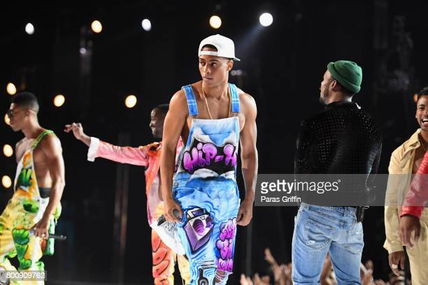 Keith Powers performs onstage at 2017 BET Awards at Microsoft Theater on June 25 2017 in Los Angeles California