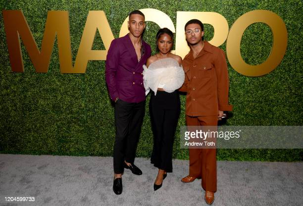 Keith Powers Ryan Destiny and Diggy Simmons attend the 3rd Annual MACRO PreOscar Party on February 06 2020 in West Hollywood California
