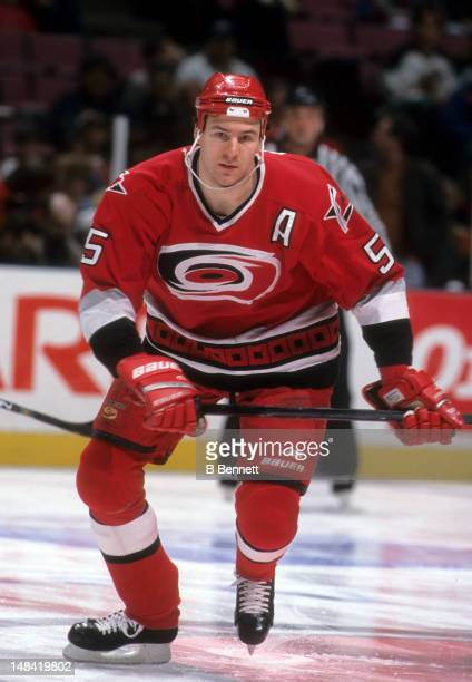 Keith Primeau of the Carolina Hurricanes skates on the ice during an NHL game against the New York Rangers on January 6 1998 at the Madison Square...