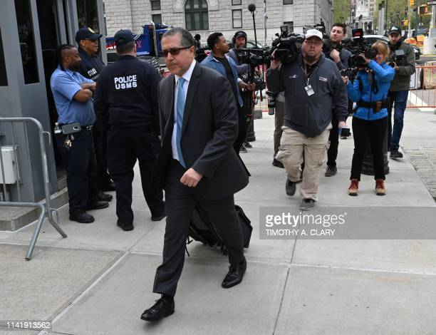 Keith Ranieres lawyer Marc Agnifilo arrives at Brooklyn Federal Court on May 7 in New York The trial of Keith Raniere a selfhelp guru who ran a...