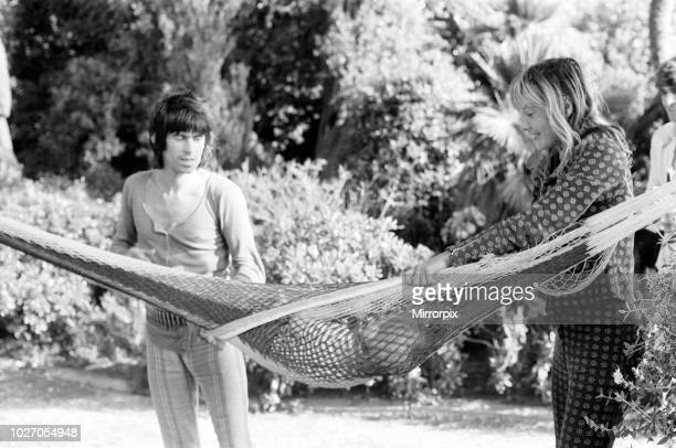 Keith Richards and Anita Pallenberg seen here at Nellcote their villa above Villefranche sur Mer with their son Marlon May 1971