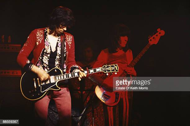 Keith Richards and Bill Wyman of the Rolling Stones perform live at the Roundhouse in London 14th March 1971