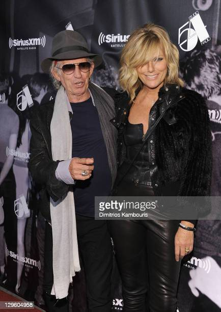 Keith Richards and Patti Hansen attend SiriusXM's One Night Only at Studio 54 on October 18 2011 in New York City