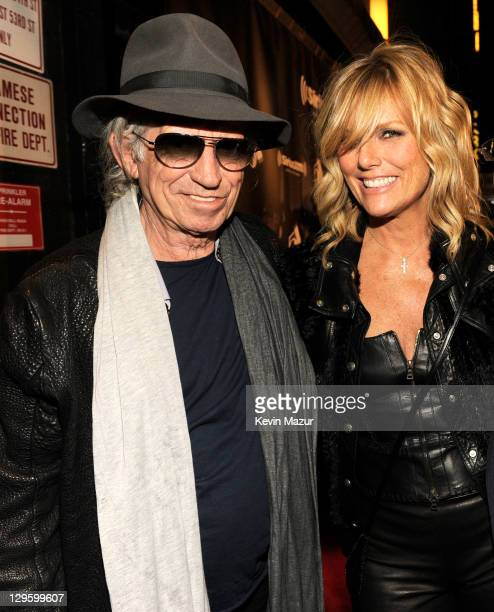 Keith Richards and Patti Hansen attend SiriusXM's reopening of Studio 54 for One Night Only at Studio 54 on October 18 2011 in New York City