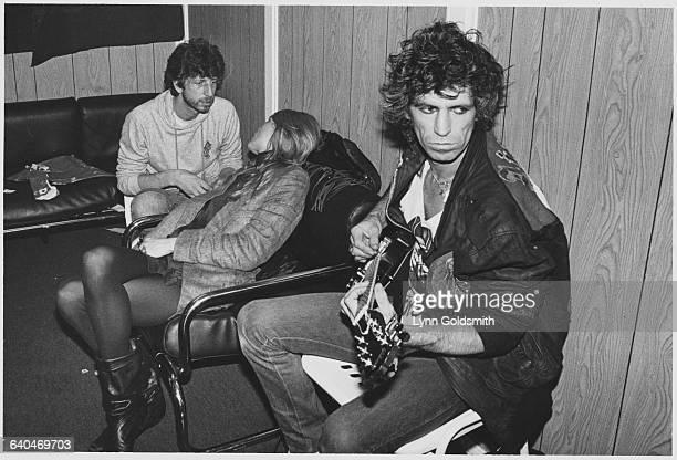 Keith Richards and Patti Hansen Backstage