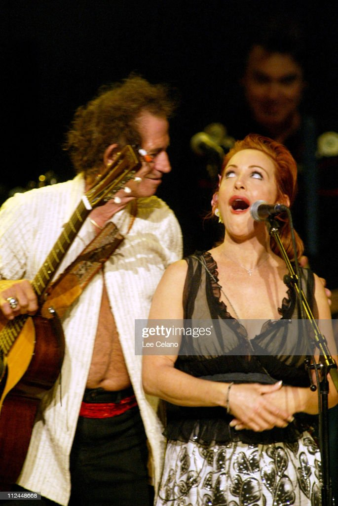 Keith Richards and Polly Parsons, daughter of Gram Parsons