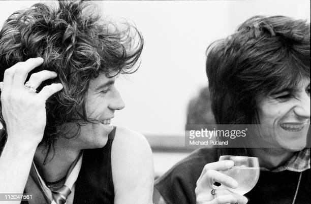 Keith Richards and Ronnie Wood backstage at a New Barbarians gig at Madison Square Garden New York 7th May 1979