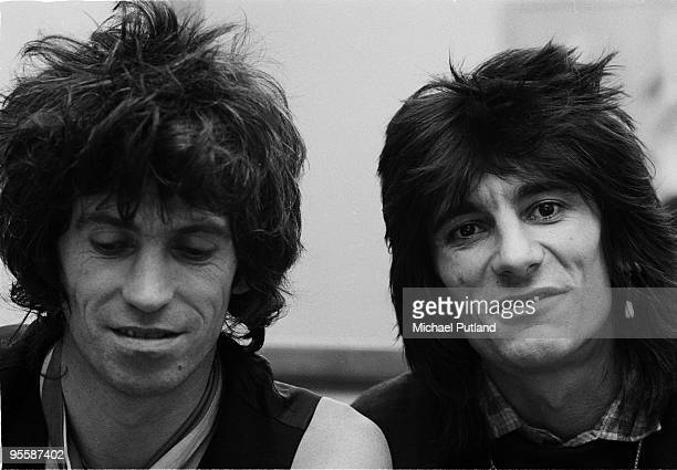 Keith Richards and Ronnie Wood of the Rolling Stones in New York during their American tour with their band, the New Barbarians, 1979.