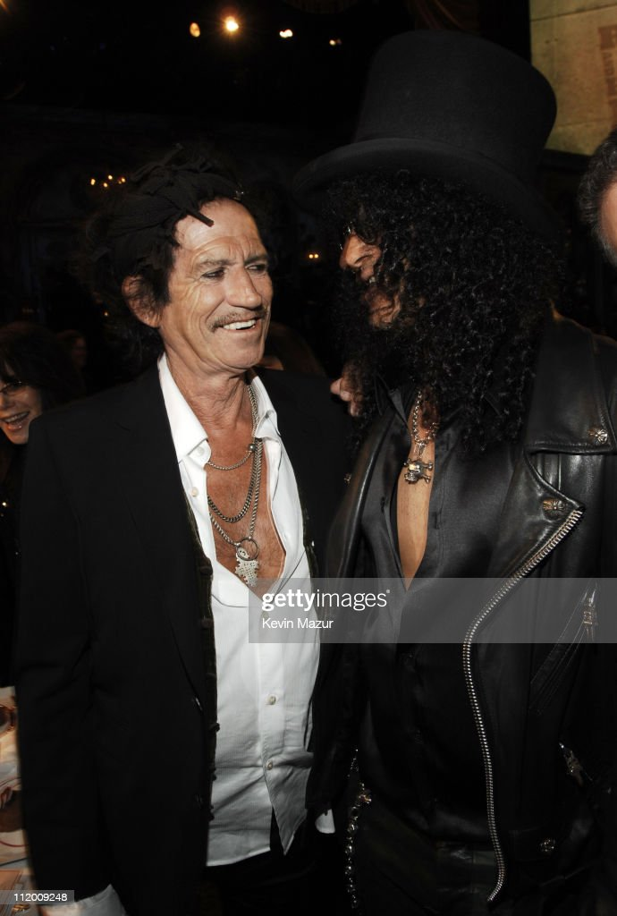Keith Richards and Slash of Velvet Revolver, presenters *EXCLUSIVE*