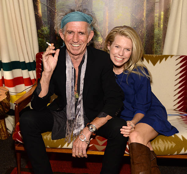 Keith Richards And Theodora Backstage At The Tonight Show Starring Jimmy Fallon To