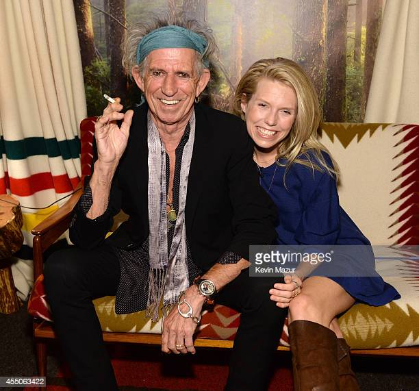 Keith Richards and Theodora Richards backstage at The Tonight Show Starring Jimmy Fallon to promote their new book Gus Me The Story of My Granddad...