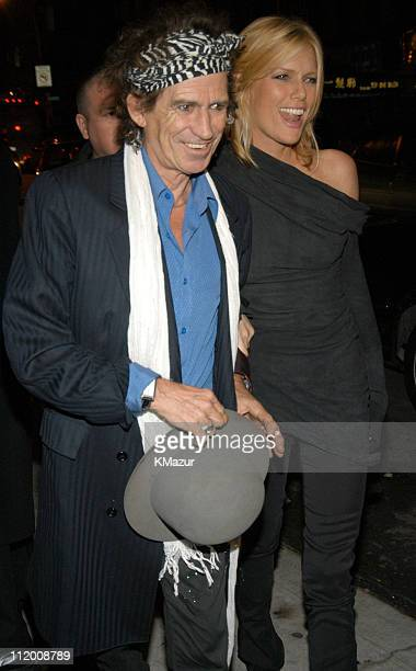 Keith Richards and wife Patti Hansen during The Rolling Stones Celebrate the Launch of Four Flicks in New York City Arrivals at Capitale in New York...