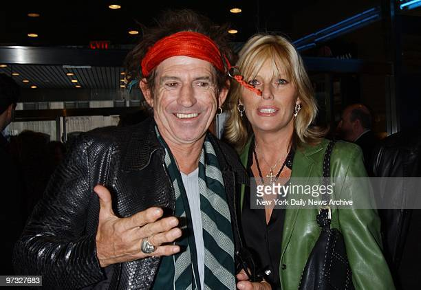 Keith Richards and wife Patty Hanson at the Chelsea West theater for the premiere of the movie Hollywood Ending
