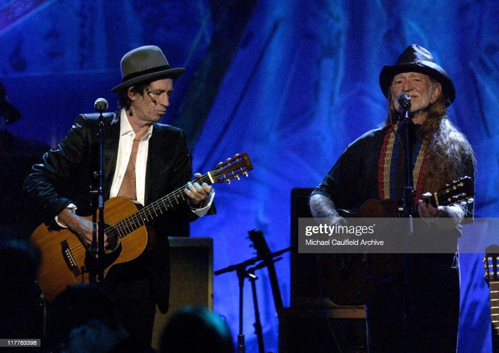 Keith Richards and Willie Nelson during Willie Nelson and Friends: 'Outlaws & Angels' - Show and Backstage at Wiltern Theatre in Los Angeles, California, United States.