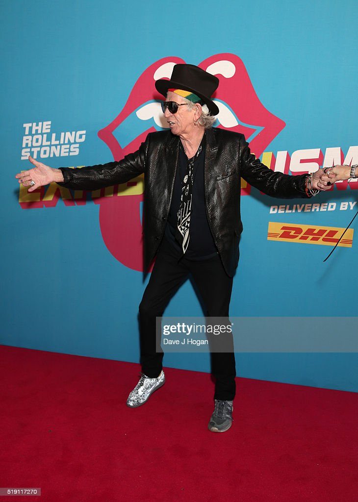 Keith Richards attends an after party for 'The Rolling Stones: Exhibitionism' Saatchi Gallery on April 4, 2016 in London, England.