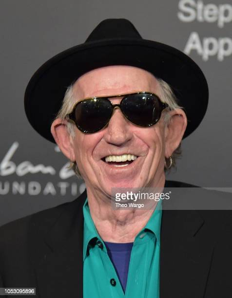 Keith Richards attends the 2018 Stephan Weiss Apple Awards at Stephan Weiss Studio on October 24 2018 in New York City