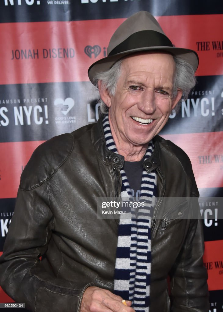 Keith Richards attends the Second Annual LOVE ROCKS NYC! A Benefit Concert for God's Love We Deliver at Beacon Theatre on March 15, 2018 in New York City.