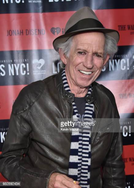 Keith Richards attends the Second Annual LOVE ROCKS NYC A Benefit Concert for God's Love We Deliver at Beacon Theatre on March 15 2018 in New York...