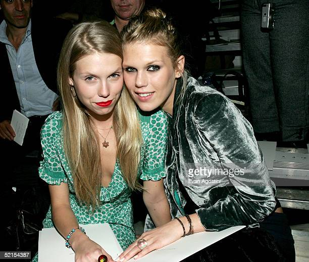 Keith Richards daughters Theodora and Alexandra Richards attend the Marc Jacobs Fall 2005 show during Olympus Fashion Week at The Armory February 7,...