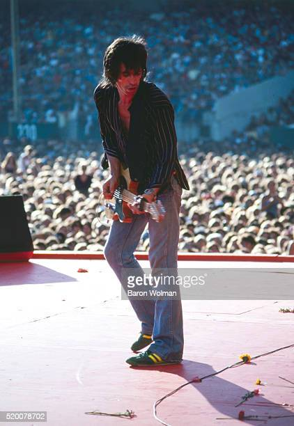 Keith Richards English musician singer and songwriter of the rock band The Rolling Stones performs on stage 1978
