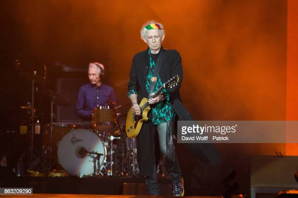 Keith Richards from The Rolling Stones performs at U Arena on October 19 2017 in Nanterre France