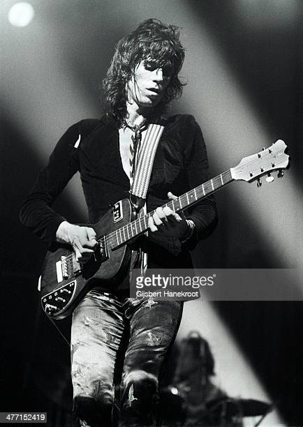Keith Richards from The Rolling Stones performs live at Ahoy in Rotterdam Netherlands on October 13 1973