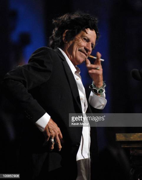 Keith Richards inducts The Ronettes during 22nd Annual Rock and Roll Hall of Fame Induction Ceremony Show at Waldorf Astoria in New York City New...