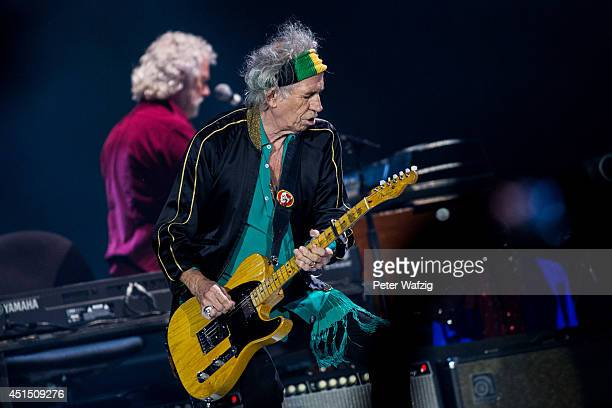 Keith Richards of the british rock band 'The Rolling Stones' performs at EspritArena on June 19 2014 in Duesseldorf Germany