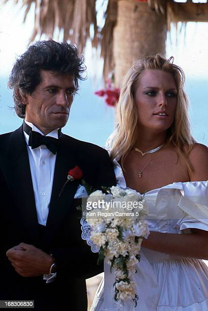 Keith Richards of the Rolling Stones and Patti Hansen are photographed on their December 18 1983 wedding in Cabo San Lucas Mexico CREDIT MUST READ...
