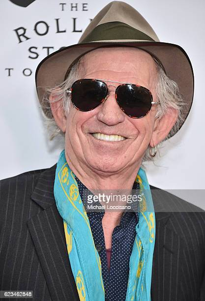 Keith Richards of The Rolling Stones attends The Rolling Stones celebrate the North American debut of Exhibitionism at Industria in the West Village...