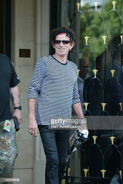 Keith Richards of The Rolling Stones during Rolling Stones Sighting in Paris- July 29, 2006 at Four Seasons George V Hotel in Paris, France.