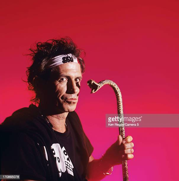 Keith Richards of the Rolling Stones is photographed at a portrait shoot in the 1990's in New York City CREDIT MUST READ Ken Regan/Camera 5 via...