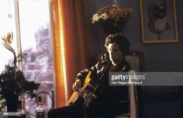 Keith Richards of the Rolling Stones is photographed in the 1980's playing guitar in New York City CREDIT MUST READ Ken Regan/Camera 5 via Contour by...