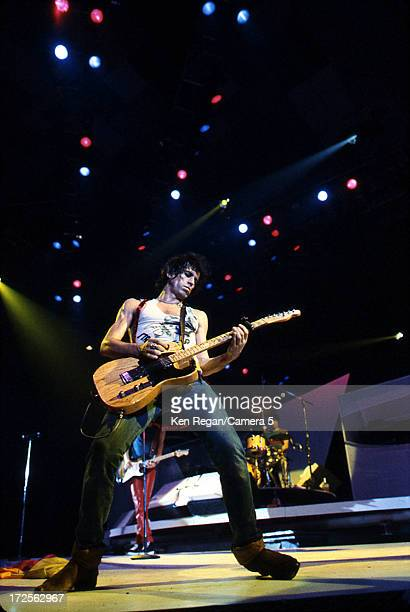 Keith Richards of the Rolling Stones is photographed on stage in the 1980's CREDIT MUST READ Ken Regan/Camera 5 via Contour by Getty Images