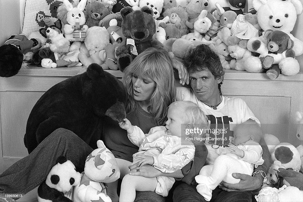 Keith Richards Family, Ken Regan Archive, 1985-1986 : News Photo